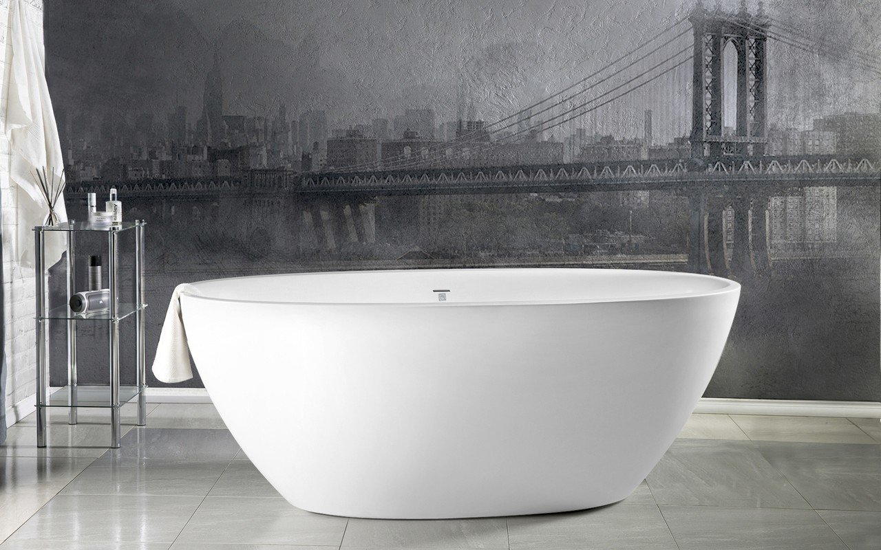 Aquatica Sensuality™ Mini-F-Wht Freestanding Solid Surface Bathtub picture № 0