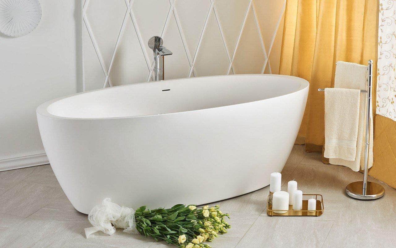 Sensuality wht freestanding oval solid surface bathtub by Aquatica 06 04 16––14 07 31 WEB