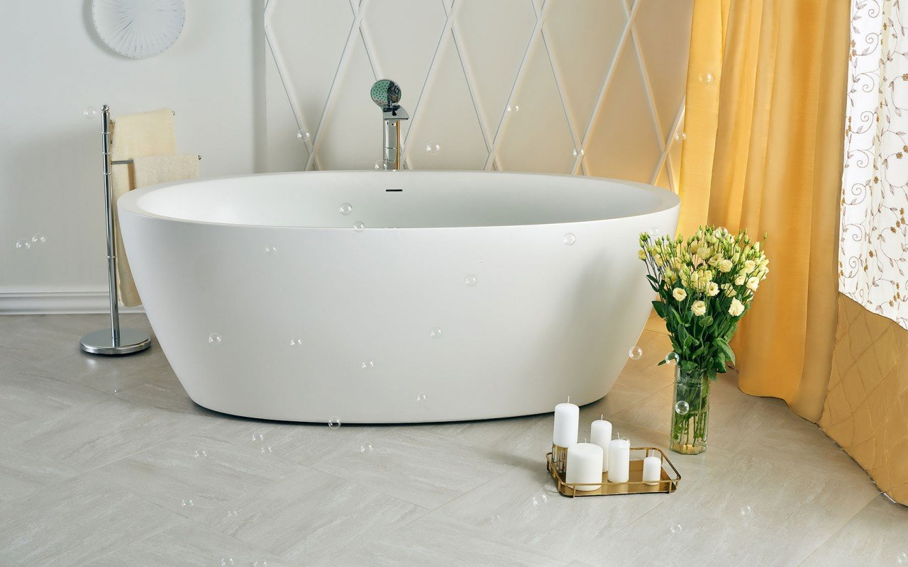 Sensuality wht freestanding oval solid surface bathtub by Aquatica 06 04 16––15 44 01 WEB