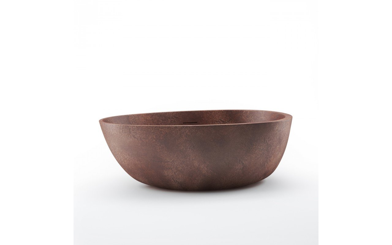 Spoon 2 Egg Shaped Bronze Solid Surface Bathtub 01