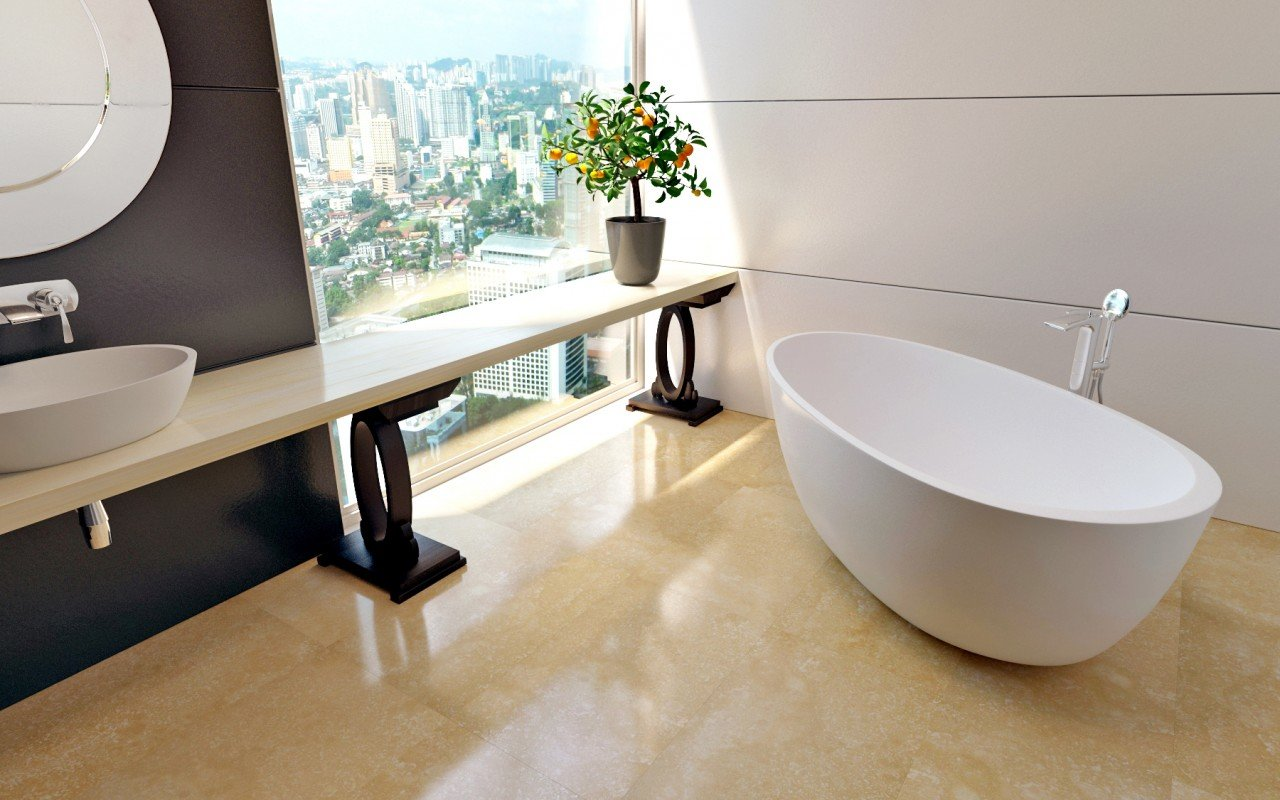 Spoon 2 Freestanding Solid Surface Bathtub (2)