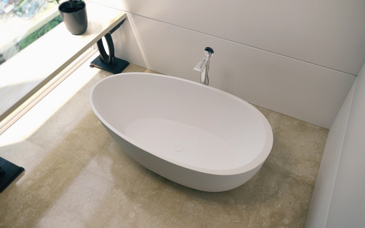 Spoon 2 Freestanding Solid Surface Bathtub (3)