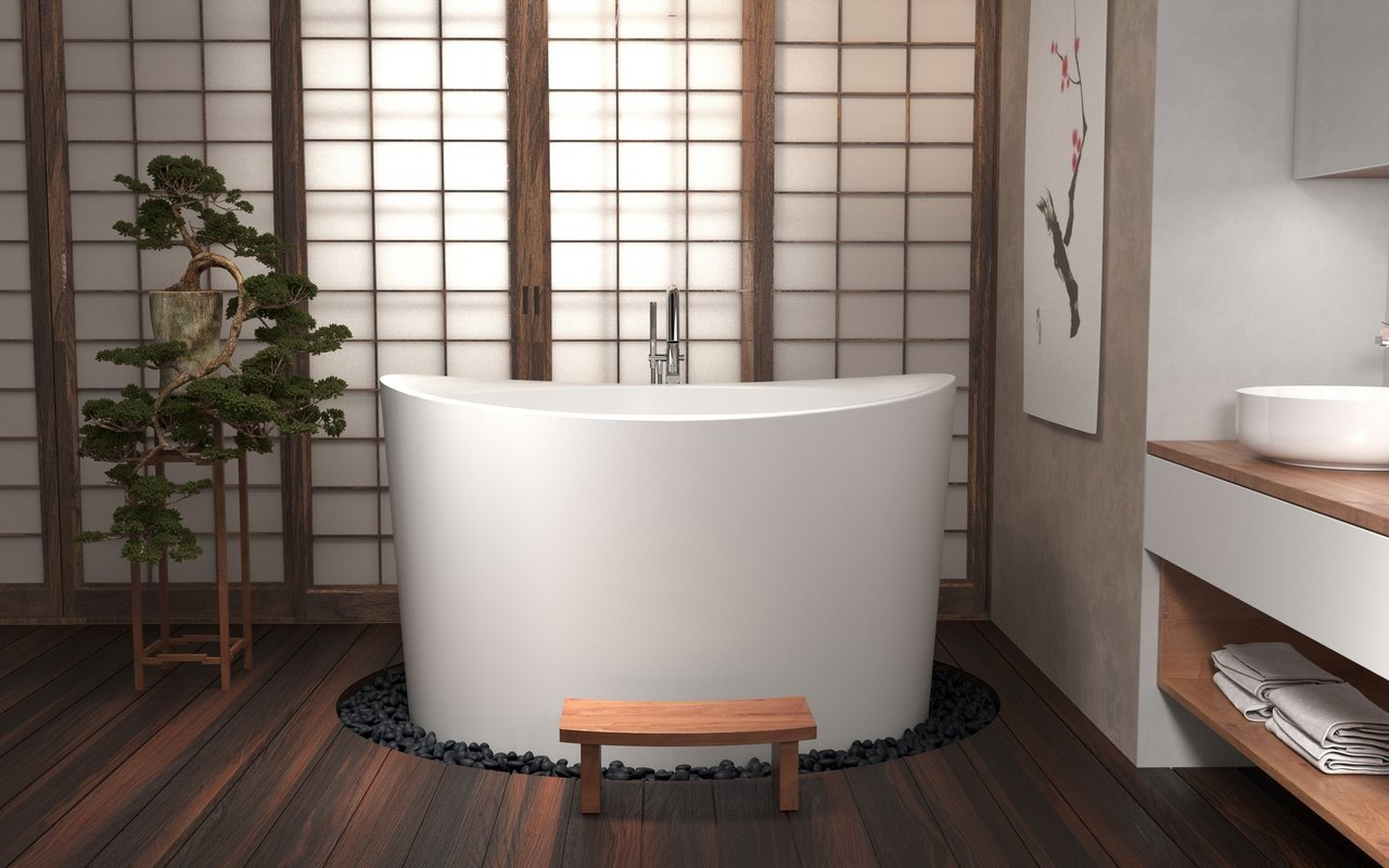 True Ofuro Duo Freestanding Stone Japanese Soaking Bathtub 01 (web)