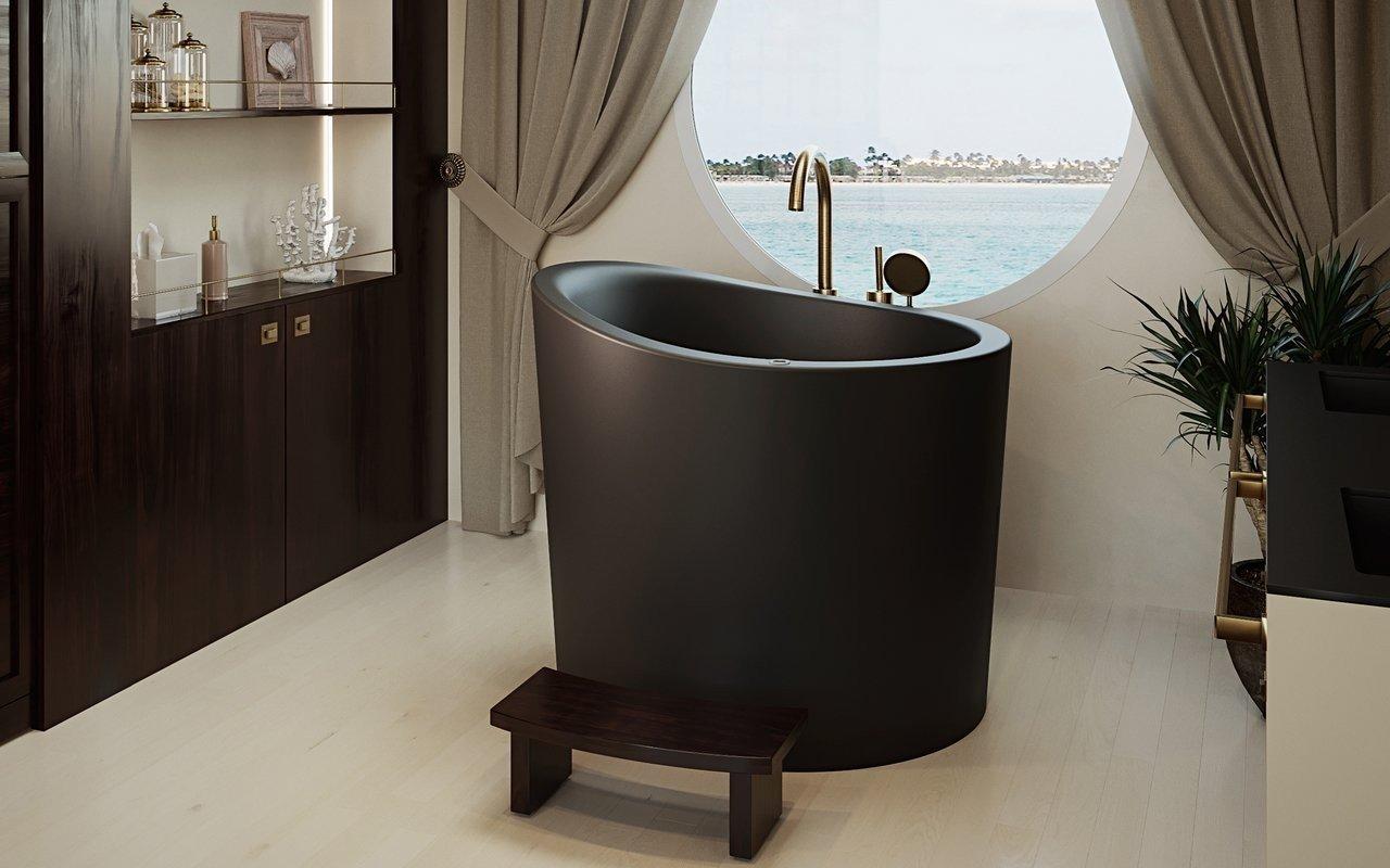 Aquatica True Ofuro Mini Black Tranquility Heated Japanese Bathtub picture № 0