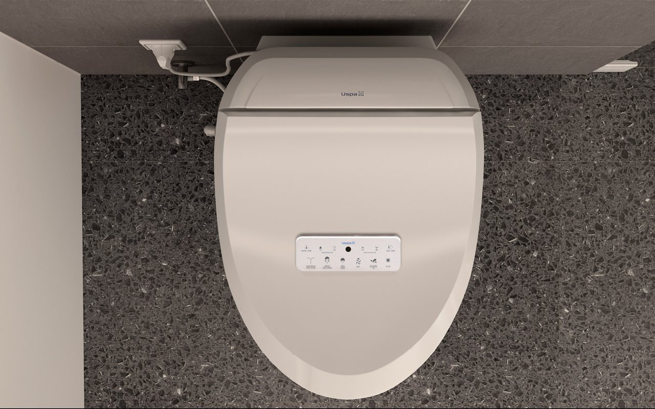 USPA-7035-C Hygienic Electronic Bidet Seat with Remotely Controlled Wash Function picture № 0
