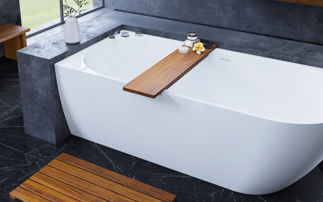 Universal Waterproof Iroko Wood Bathtub Tray 01 (web)