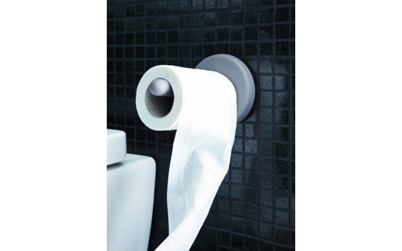 Aquatica Uno Self Adhesive Wall-Mounted Toilet Paper Roll Holder picture № 0