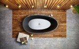 Aquatica Spoon 2 Egg Shaped Graphite Black Solid Surface Bathtub 05 (web)