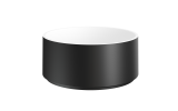 Aquatica Solace B Blck Wht Round Stone Bathroom Vessel Sink (web)