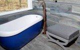 Virginia usa aquatica fido blue freestanding solid surface bathtub