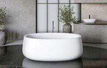 Aquatica Leah White Freestanding Solid Surface Bathtub08