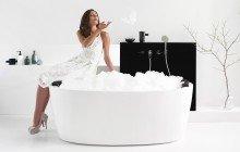 PureScape 174A Wht Freestanding Acrylic Bathtub 1200 1800