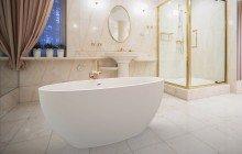 Sensuality Mini F Wht Freestanding AquaStone Bathtub 1200 1800