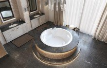 Allegra blt in wht built in acrylic bathtub by Aquatica 02 (web)