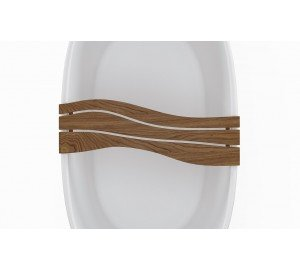 Aquatica Onde Waterproof Teak Wood Bathtub Tray 01 (web)