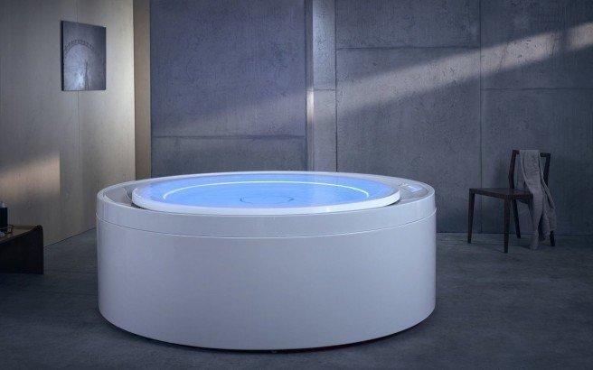 Aquatica Fusion Rondo HydroRelax Jetted OutdoorIndoor Bathtub US version 240V 60Hz 01 (web)
