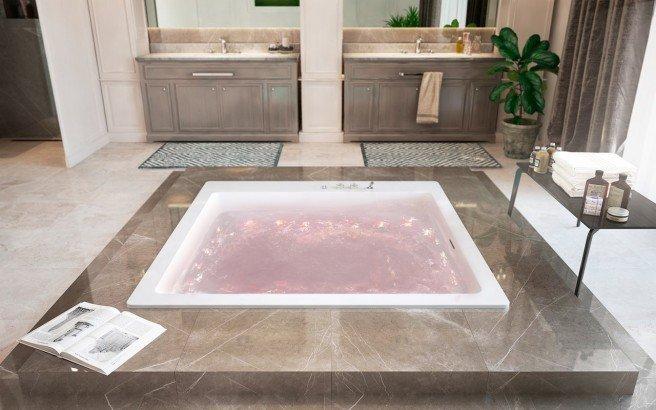 Aquatica Lacus Wht Drop In Relax Air Massage Bathtub red (web)