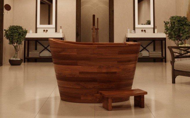 Aquatica TrueOfuro American Walnut Freestanding Wood Bathtub 2 (web)