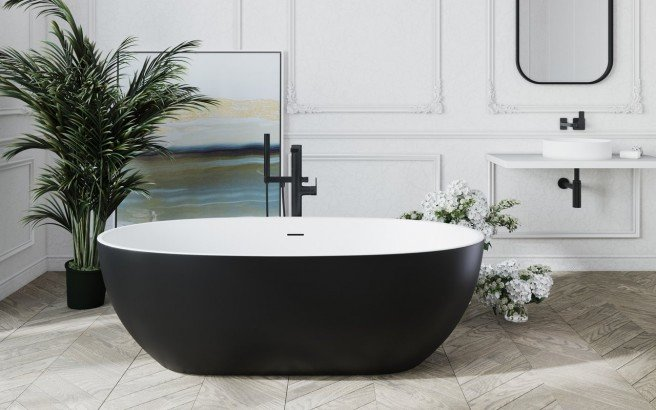 Aquatica corelia black wht freestanding solid surface bathtub 01 (web)