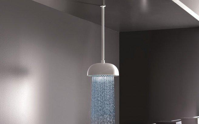 Rainbow Dynamic LED Round Shower Head White Matte 3 web