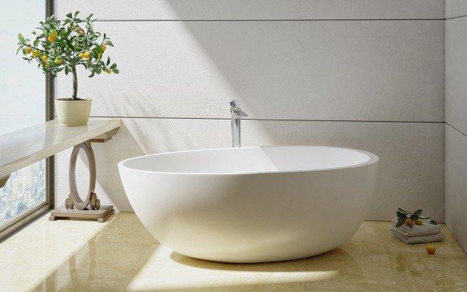 Spoon 2 Freestanding Solid Surface Bathtub by Aquatica 01 (web)