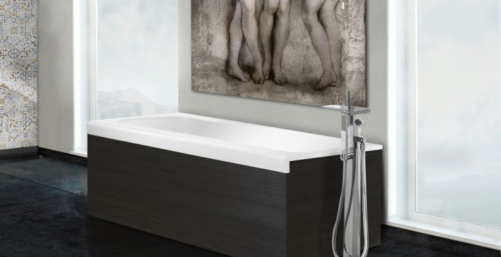 Pure 1d by aquatica back to wall stone bathtub with dark decorative wooden side panels 01 (web)