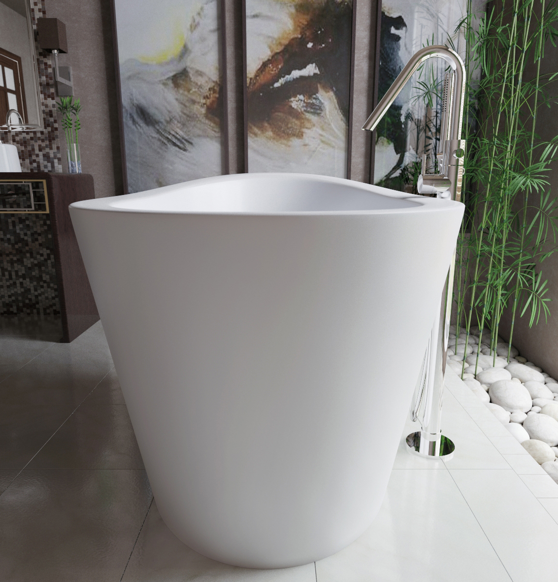 aquatica true ofuro freestanding stone japanese soaking