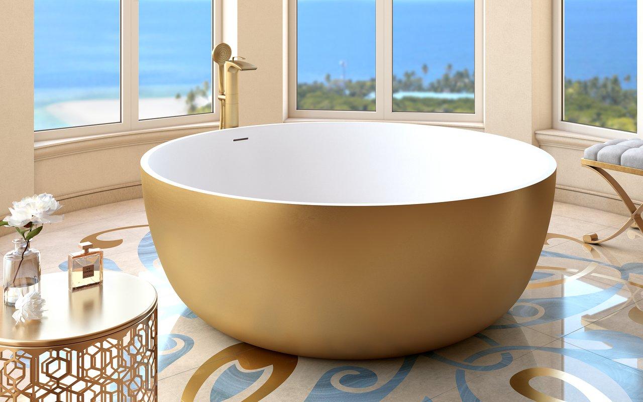 Aquatica adelina yellow gold wht round freestanding solid surface bathtub 03 (web)
