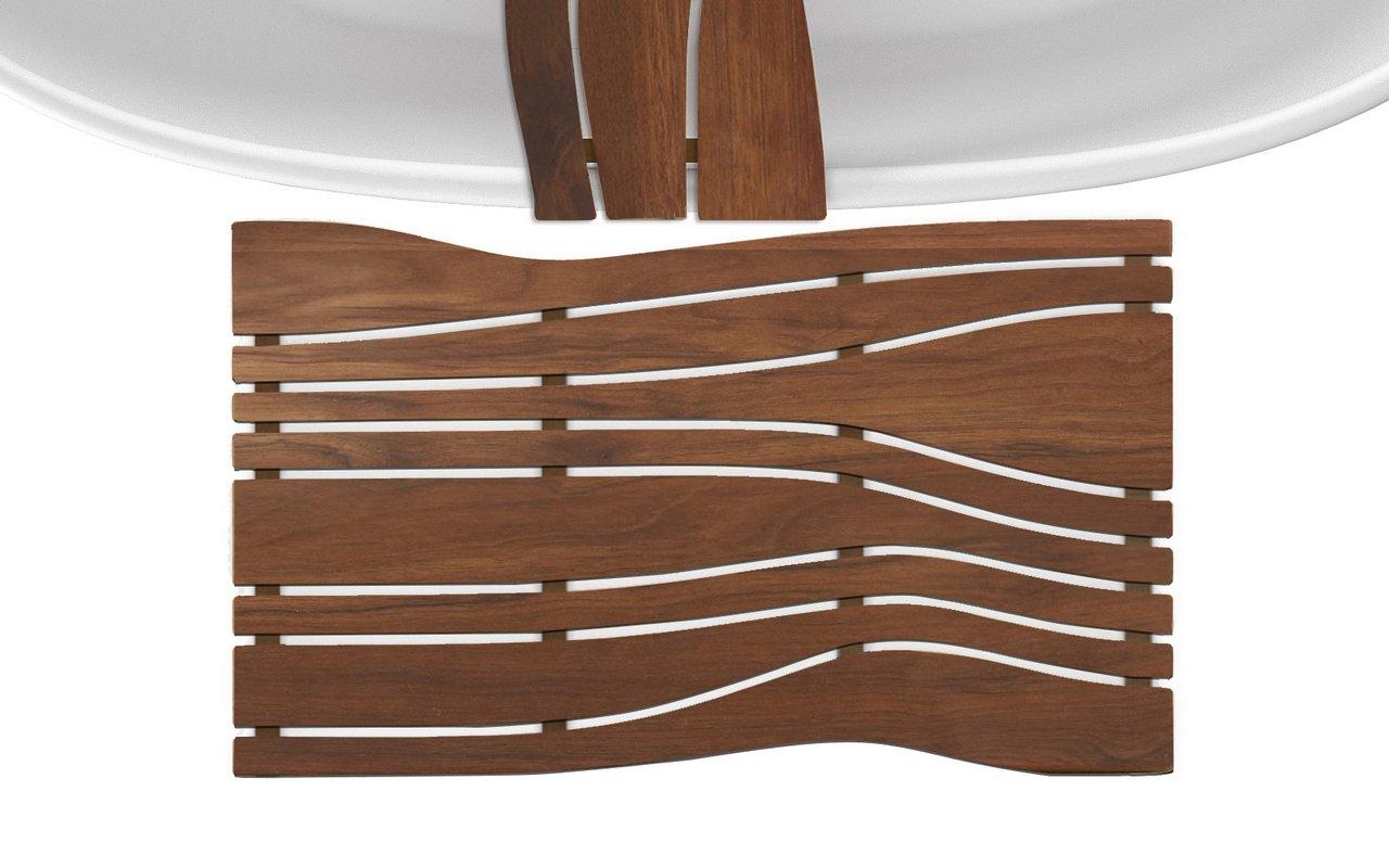 Aquatica onde waterproof iroko wood floor mat 04 (web)