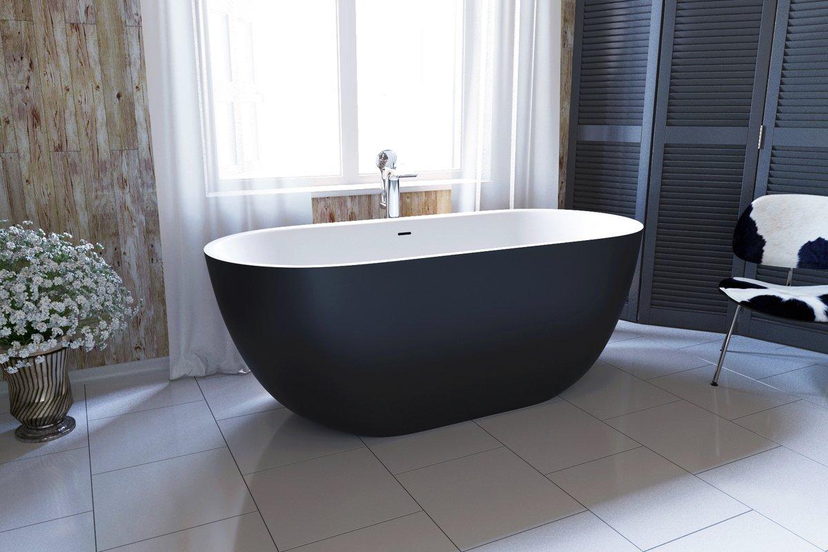 Corelia Black Wht Freestanding Stone Bathtub (1) (web)