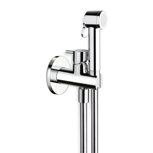 Gamma 676 WC Bidet Handshower Holder Hose Chrome