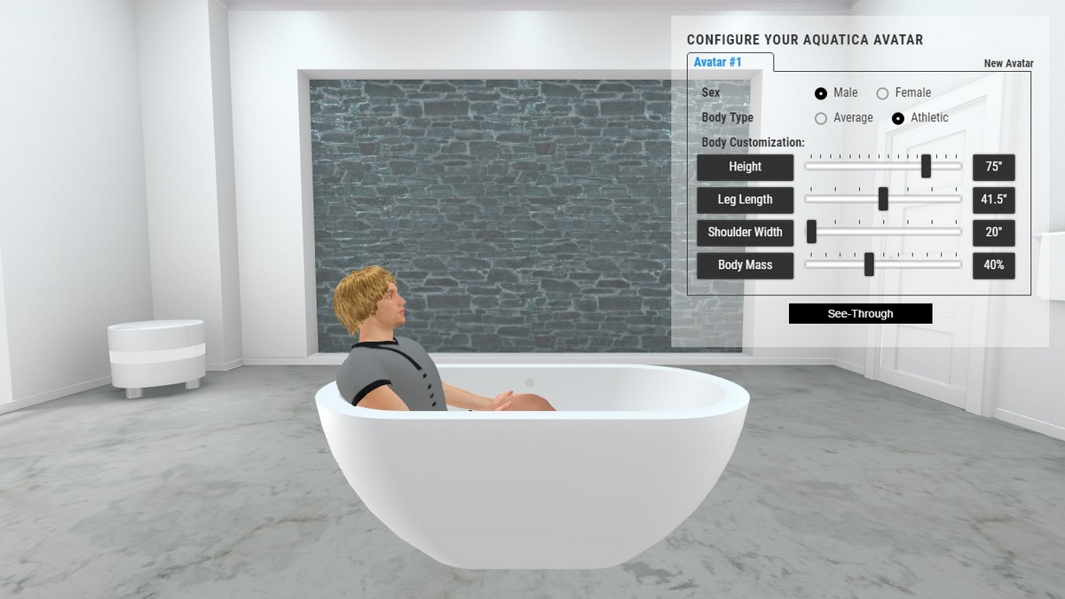 Karolina Bathtub 3D Body Position