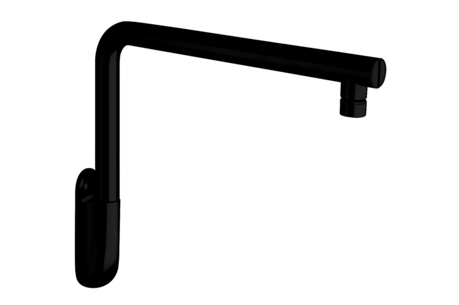 Low Wall Mounted Shower Arm Black Matte(main)