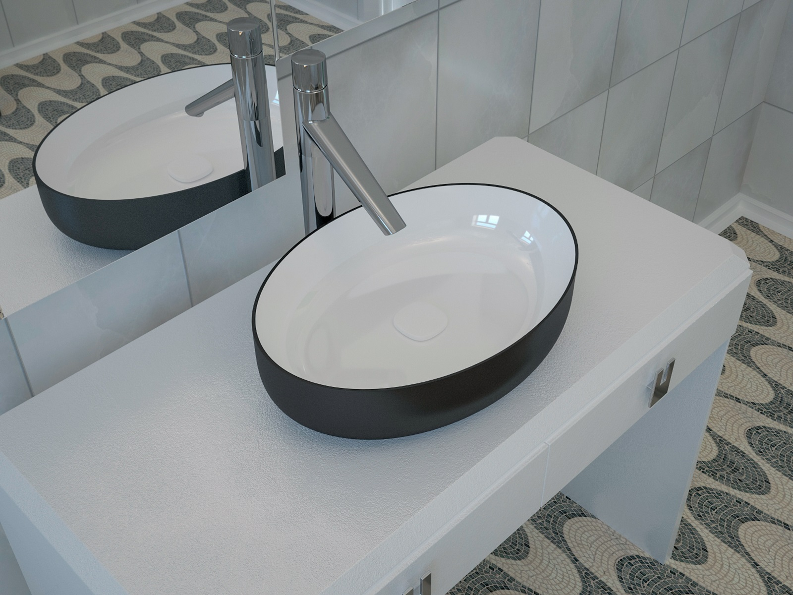 Metamorfosi Black Wht Oval Ceramic Vessel Sink 3D web (1)