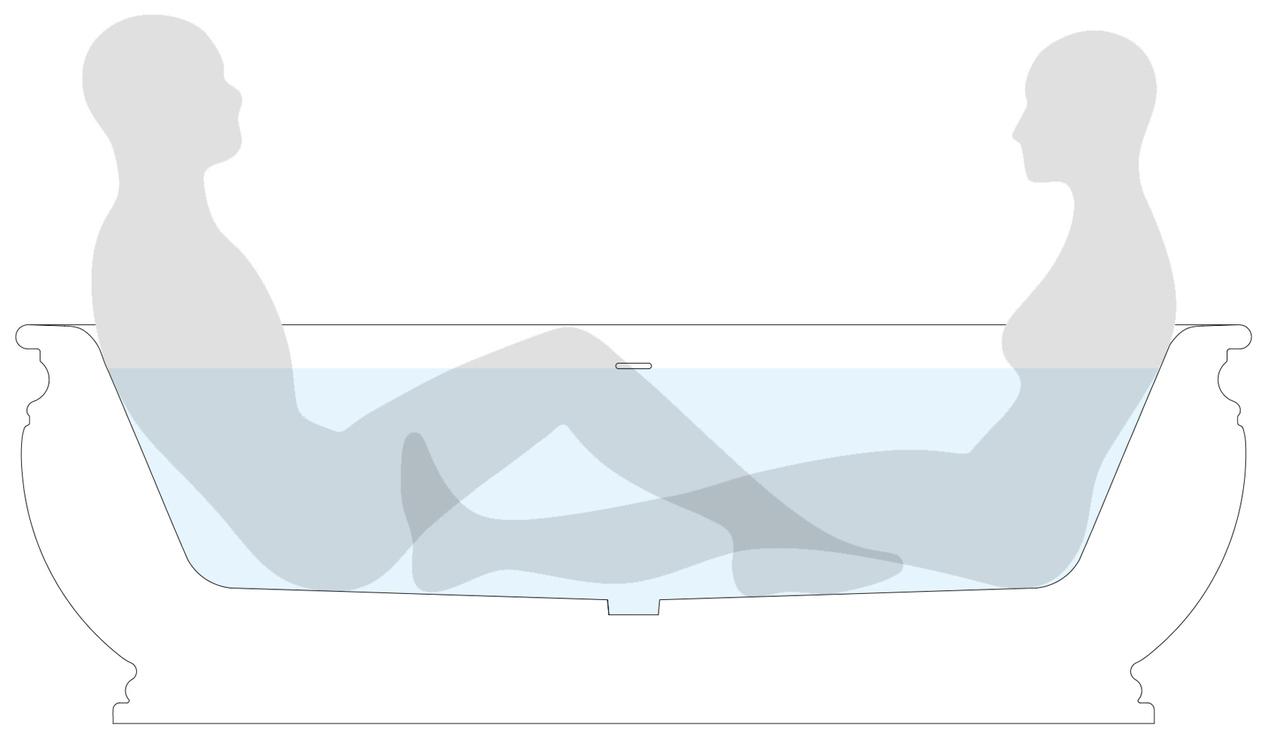 Olympian Freestanding Stone Bathtub ergonomic snippet