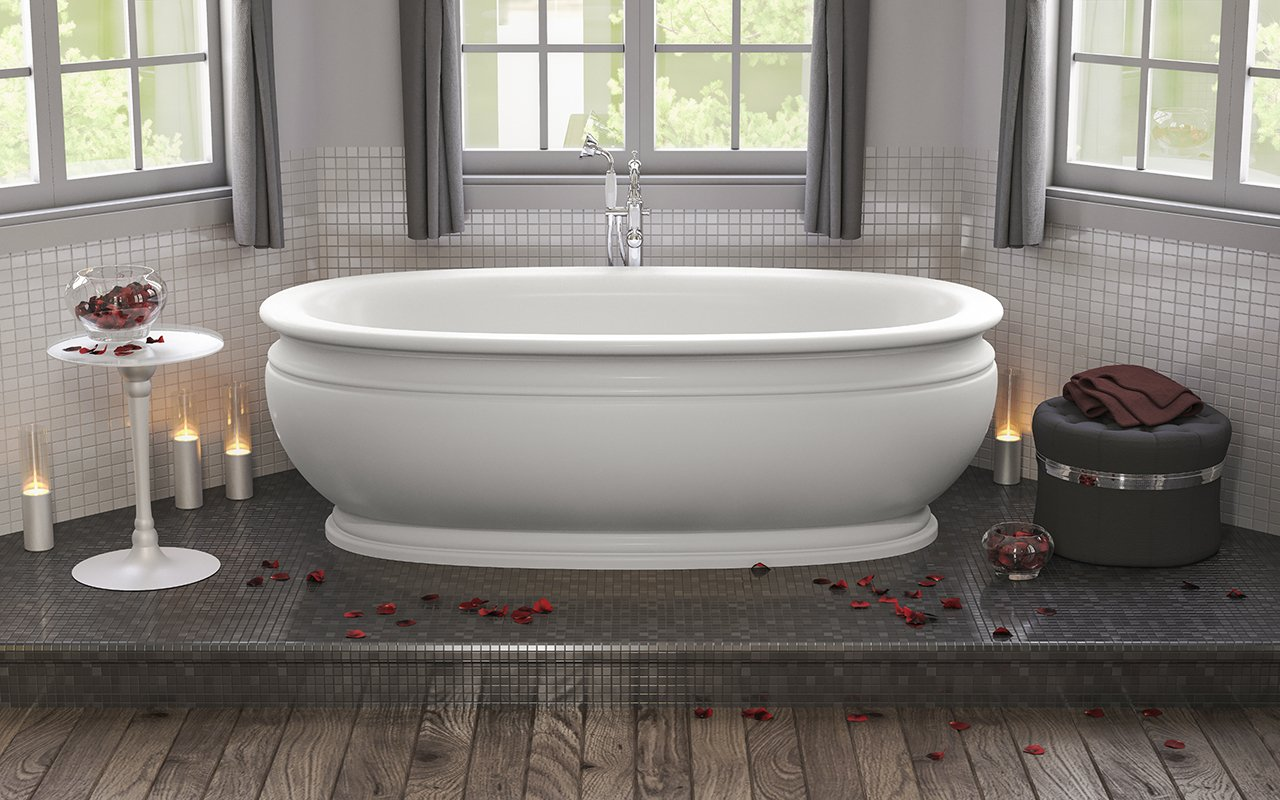 Freestanding Stand Alone Bath Tubs Made of Award Winning Materials
