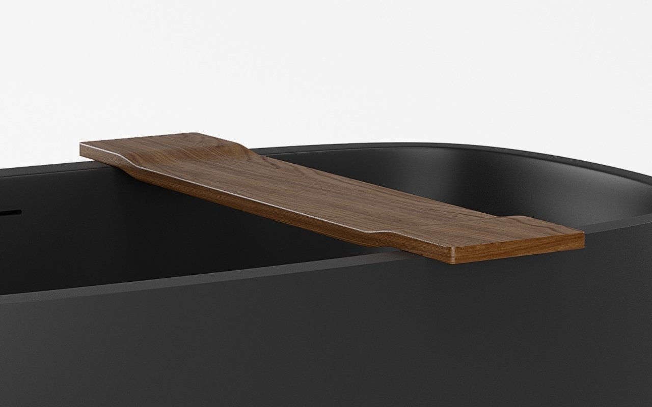Tidal Waterproof Teak Bathtub Tray (web)