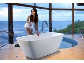 Aquatica Arabella-Wht™ Freestanding Solid Surface Bathtub