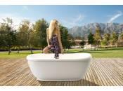 Aquatica Fido-Wht™ Freestanding Solid Surface Bathtub