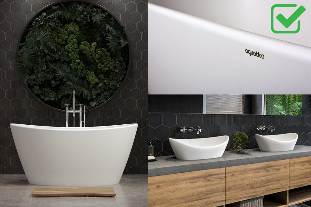 Luna Solid Surface Bathtub and Sinks 2