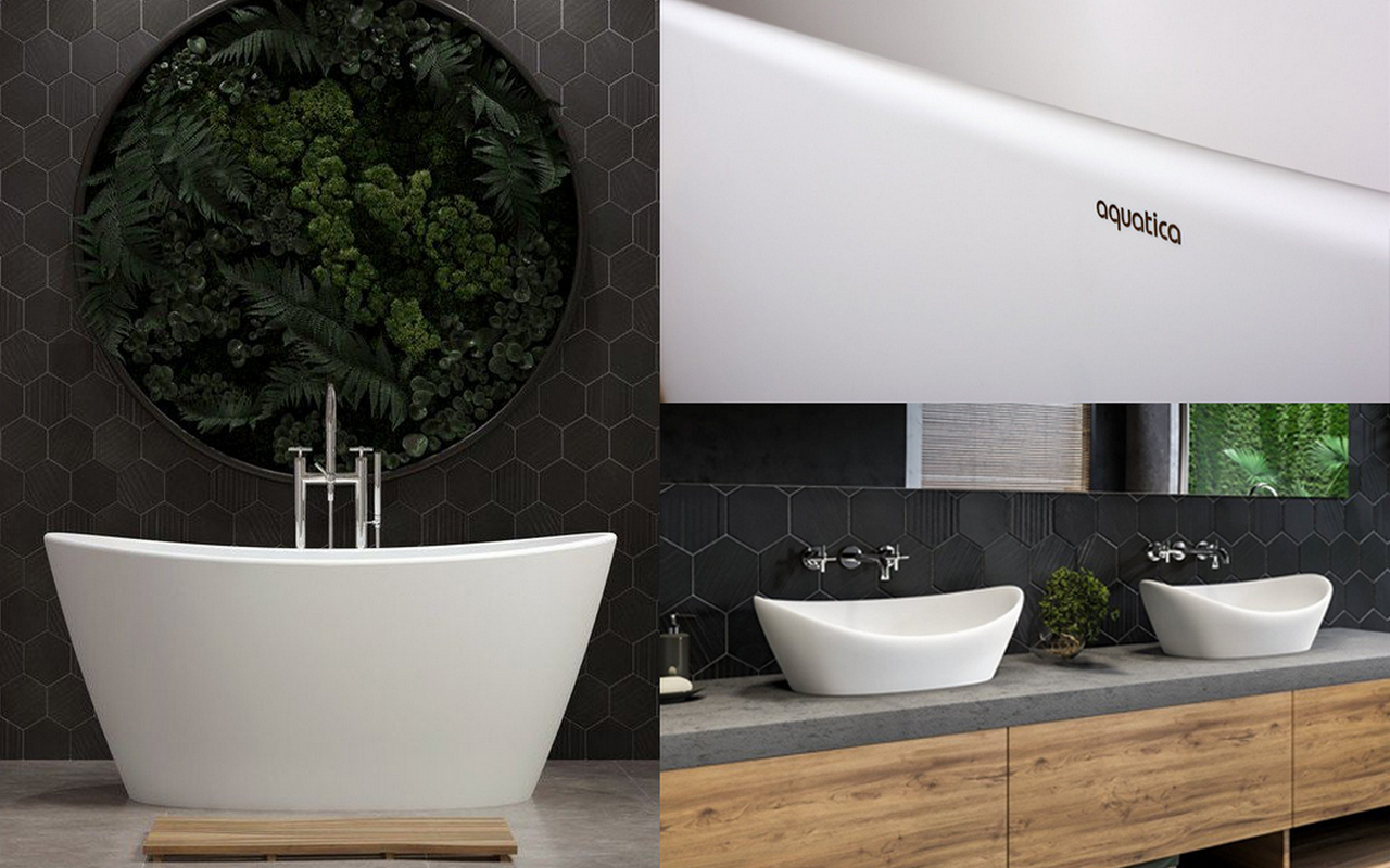 Luna Solid Surface Bathtub and Sinks