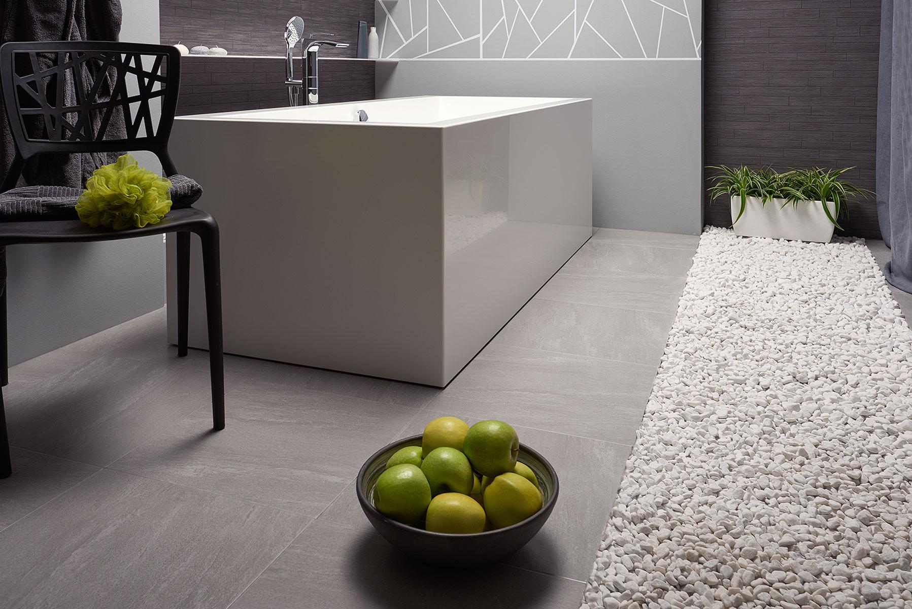 Freestanding Solid Surface Bathtub by Aquatica