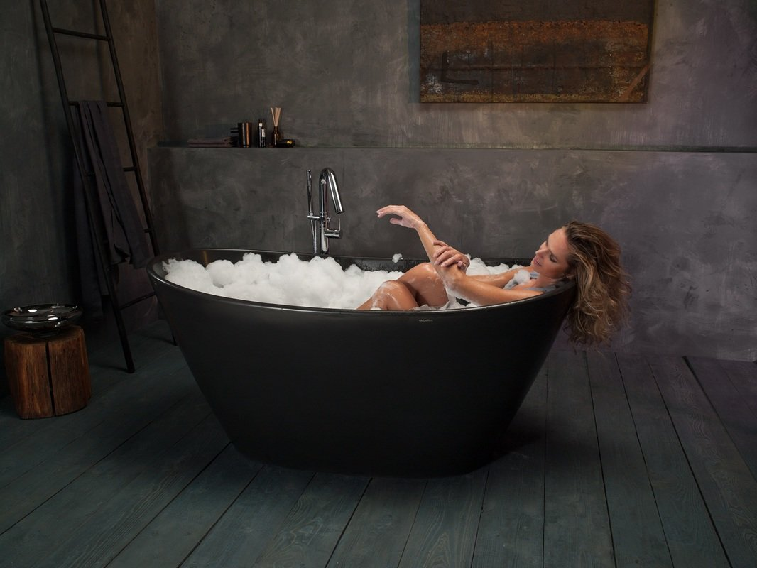 Purescape 748M Black Freestanding Stone Bathtub web (12)