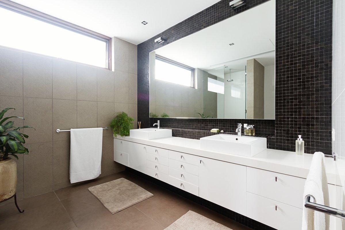 bigstock Black Mosaic Tiled Splashback 115844603