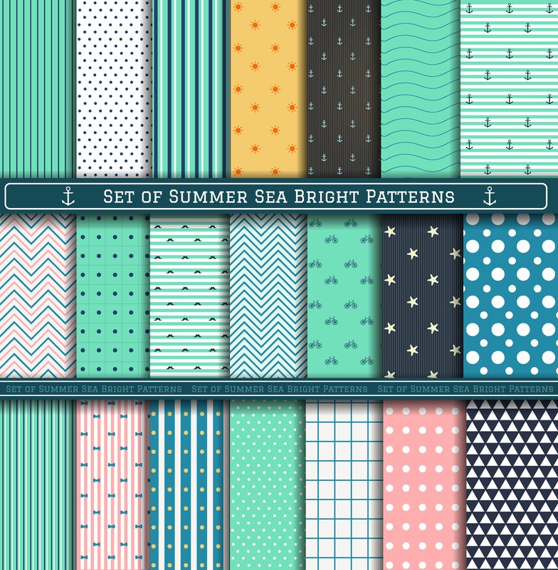 bigstock Set Of Summer Pattern 94933073